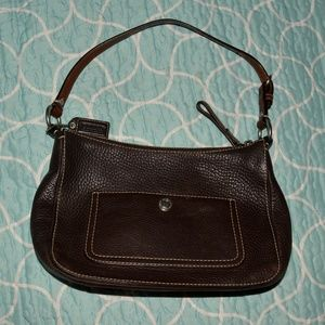 Authenticated Leather Coach Purse